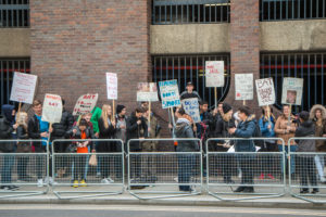 Photo of young people protesting against the tobacco industry