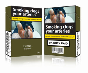 Image depicting standardised tobacco packaging